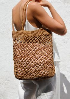 Raffia Net Bag Crochet Raffia Tote Summer Tote Bag Straw Mesh Bag Handcrafted Tote Net Shoulder Bag The Raffia Net Bag Bag Crochet, Filet Crochet, Summer Tote Bags, Bag Women, Net Bag, Macrame Bag, Market Bag, Knitted Bags, Knitted Owl