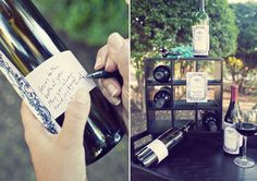 wine bottle guest book - Google Search