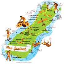 New Zealand - South Island map