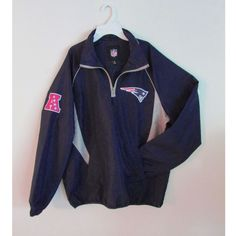 NFL New England Patriots Windbreaker Hooded 1 4 Zip Jacket Size Medium  Men s  TeamApparel e860e46486460