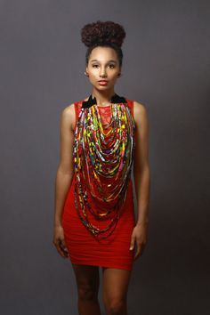 Infinity Ankara Statement Neckpiece by AnkaraStatement on Etsy, $120.00