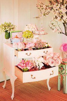 Display at bridal shower