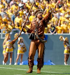 West Virginia: The Mountaineer Angry, excitable and sunburnt. The Mountaineer sums up WVU perfectly.