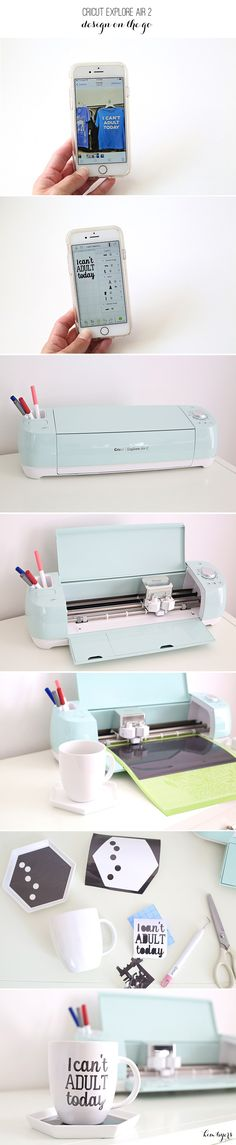 Hack your favorite projects on the go with Cricut Explore Air 2 and Design Space, like this fun \