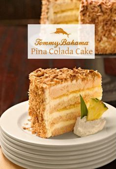 This light cake is of full of texture and flavor.  It is covered in toasted coconut and layered with white chocolate mousse and crushed pineapple.  Each cake layer is generously brushed with rum which provides flavor and keeps the cake moist.