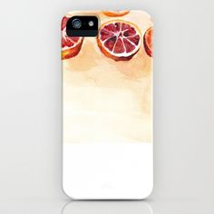 Cool iPhone case with a very light orange tint and pictures of oranges