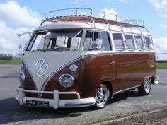 VW Split Screen Campervan...nice stance.