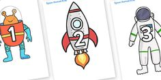 Numbers 0-30 on Space Images - Space, Foundation Numeracy