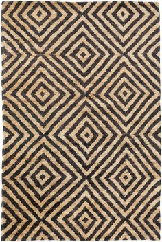 Surya TNG3000 Tangier Black Rectangle Area Rug