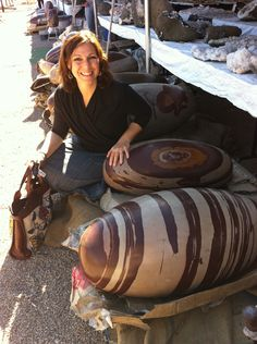 Shiva lingams are amazing. I found these at the Tucson Gem Show...I had never seen ones this big before...now it's one of my favorite stops at the show