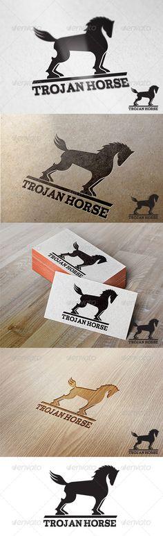 Trojan Horse Logo - Animals Logo Templates