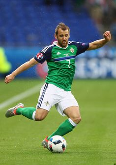 Niall McGinn of Northern Ireland during the UEFA EURO 2016 Group C match between Ukraine and Northern Ireland at Stade des Lumieres on June 16 2016...