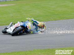 Valentino Rossi Crash . motogp 2010