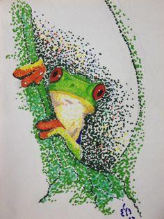 """Tree Frog"" Sharpie on Bristol. For Sale. McKnight Arts on Etsy."