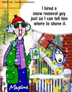 I hired a snow removal guy just so I can tell him where to shove it.
