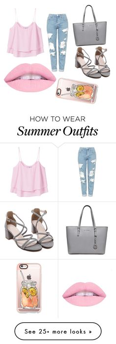 """My First Polyvore Outfit"" by safiye13 on Polyvore featuring MANGO, Topshop and Casetify"