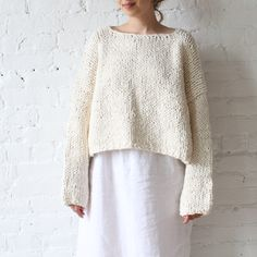 Lauren Manoogian Box Pullover Raw White