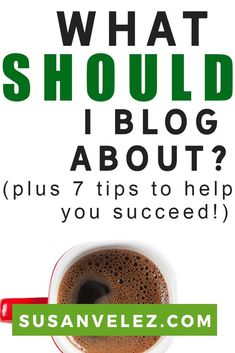 What should I blog about and what is the best way to succeed in creating a profitable blog. If you have ever thought about starting a blog, but don't have a clue how to get started, then you're in the right place. via @susanwptutorial