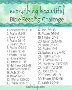 Everything Beautiful Bible Reading Challenge