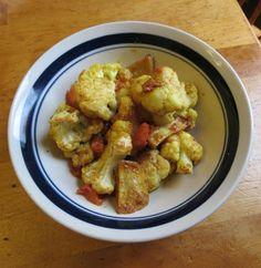 Nummy Kitchen: Indian Cauliflower with Potatoes -- Gobi Aloo Madhur Jaffrey Recipes, Indian Cauliflower, Banquet, Spices, Potatoes, Vegan, Chicken, Vegetables, Cooking