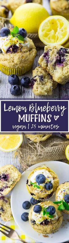 he recipe for these vegan blueberry muffins couldn't be easier. They're ready in only 25 minutes, vegan, and so delicious! <3 | veganheaven.org
