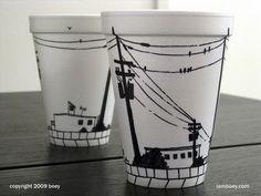 Haha, cup art!