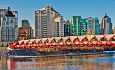 Beautiful Bridges Around the World . Calgary, San Francisco Skyline, New York Skyline, Around The Worlds, Canada, Spain, Architecture, Bridges, City