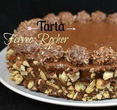 """#Receta para la tarta Ferrero Rocher. ¡Un pastel irresistible! Idea de """"Un trozo del pastel""""."""