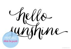 Hello sunshine | Free printable and wallpaper | Papier d'Amour