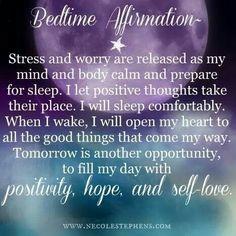 Bedtime affirmation