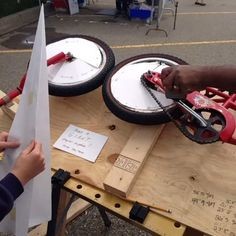 Our giant paper airplane launcher in action at Detroit Maker Faire 2013