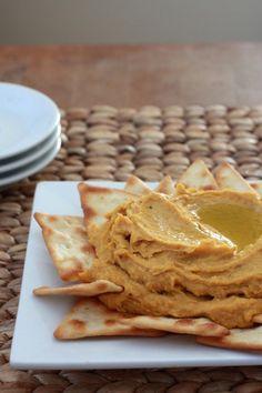 Curried Sweet Potato Hummus via@mjmayberry