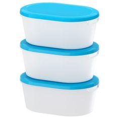 IKEA - JÄMKA, Dose mit Deckel, Mehrere passen ineinander; spart Platz im Schrank.Geeignet für alles von Schinken über Käse usw. bis hin zu Einzelportionen von Speisen.Ideal, um Essensreste länger aufzubewahren und für eine andere Mahlzeit erneut zu erhitzen.Teilweise durchsichtig; der Inhalt ist gut zu erkennen und man findet schnell, was man sucht.Stapelbar, spart Platz in Kühlschrank und Gefriertruhe.