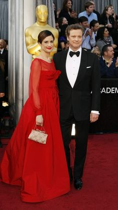 Colin Firth arrives at the 84th Academy Awards.