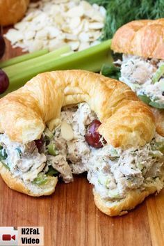 This Best-Ever Chicken Salad is really wonderful. Perfect for incredible chicken salad sandwiches (croissants are great!), or ton top of a lovely bed of green. Either way, you're just going to love salad How to Make the Best-Ever Chicken Salad Chicken Salad Recipes, Chicken Salad With Grapes, Rotisserie Chicken Salad, Vegan Chicken Salad, Chicken Salad Sandwiches, Best Tuna Salad Recipe, Chicken Salad Croissant, Healthy Lunches, Food Recipes