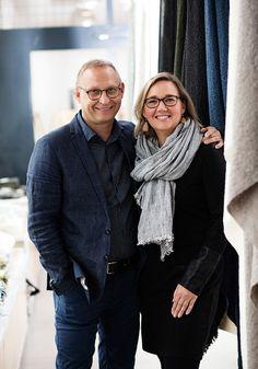 Fourth generation weavers Jaana and Esko Hjelt Weaving Techniques, Attitude, Tops, Fashion, Moda, Fashion Styles, Fashion Illustrations, Fashion Models