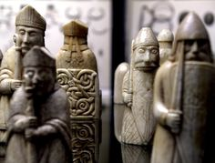 Lewis Chessmen | Flickr - Photo Sharing! Probably made in Norway, about AD 1150-1200 - Found on the Isle of Lewis, Outer Hebrides, Scotland