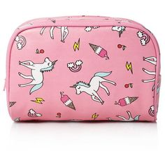 Forever 21 Unicorn Print Makeup Bag (165 UYU) ❤ liked on Polyvore featuring beauty products, beauty accessories, bags & cases, bags, accessories, fillers, makeup, beauty, cosmetic bags and travel toiletry case