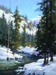 American River Sojourn by Kim Lordier Pastel ~ 24 x 18