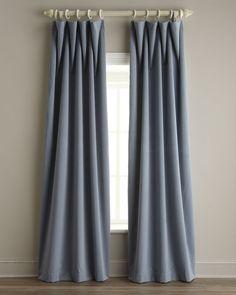 """Each 50""""W x 108""""L Velvet Curtain"""