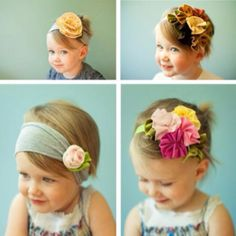 Ordinarily, i hate headbands on babys.... I just don't see the point. I mean, they don't have any hair for cryin out loud!! ... But I happen to really think these are pretty.
