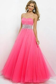 Ball Gown Sweetheart Tulle with Beading snd Sequins Pink Prom Dress - Prom Dresses - Special Occasion Dresses Tulle Ball Gown, Ball Gowns Prom, Tulle Prom Dress, Homecoming Dresses, Bridal Dresses, Bridesmaid Dresses, Chiffon Dress, Party Dress, Pretty Dresses