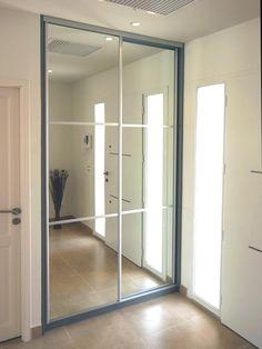 "Search result for ""Sliding mirror closet door other . Ikea Wardrobe Closet, Room Closet, Built In Wardrobe, Mirror Closet Doors, Mirror Room, Living Room Partition Design, Room Partition Designs, Placard Design, Dressing Room"