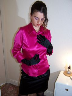 Image result for satin blouse sex