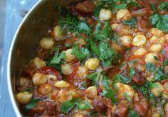 Chickpea, chorizo and tomato stew