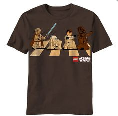 Pin for Later: What to Give Your Most Fashionable Geek Friend  Lego Star Wars Abbey Road Tee ($20)