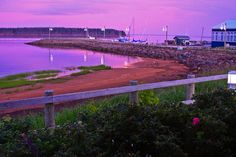Sunset on the Northport Pier in Alberton, Prince Edward Island