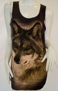 Wolf T Shirt Tank Top