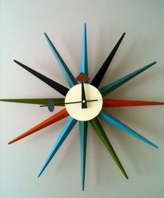 Starburst clock, 1950s