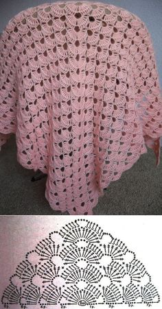 Super crochet poncho for beginners prayer shawl Ideas Crochet Shawl Diagram, Crochet Poncho Patterns, Shawl Patterns, Crochet Scarves, Crochet Motif, Crochet Clothes, Crochet Stitches, Knitting Patterns, Crochet Circles